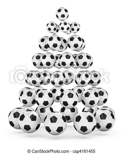 Fussball Baum Weihnachten Themed Geleistet Illustration