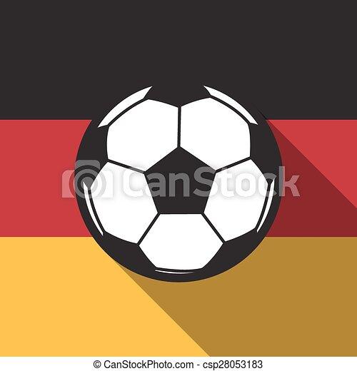 Fussball Fahne Vektor Deutschland Schatten Hintergrund