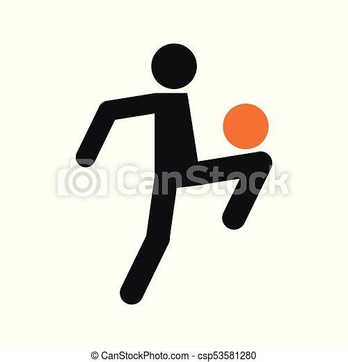 Fussball Figur Einfache Symbol Fussball Abbildung
