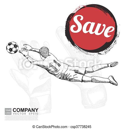 Zeichnen Von Fussball Hintergrund Poster Brochure
