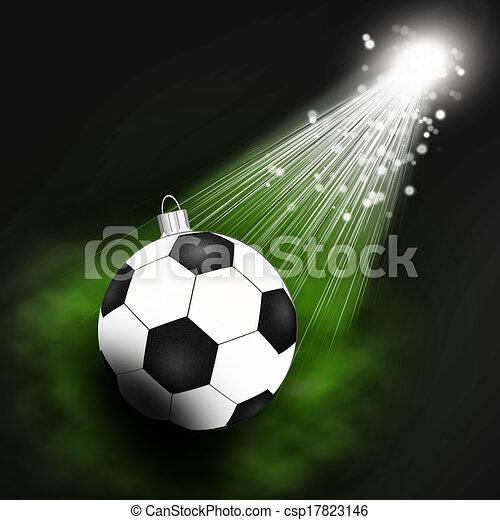 Fussball Scheinwerfer Hintergrund Weihnachten