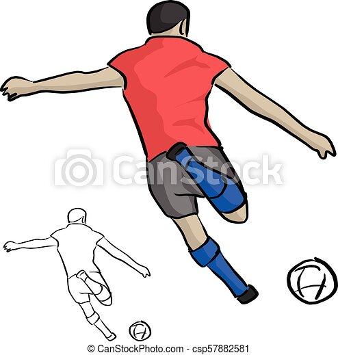 Fussball Skizze Kugel Gekritzel Linien Freigestellt