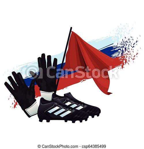 fußball, sport, karikatur - csp64385499