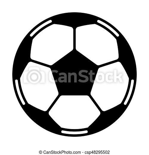 Fussballball Vektor Fussballball Schwarz Weiss Vektor Icon