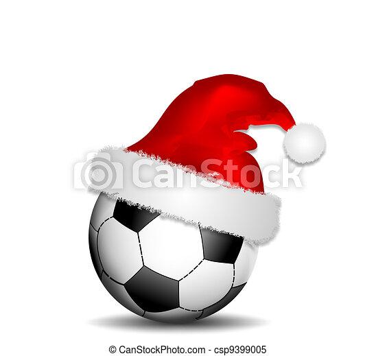 Fussball Weihnachten Fussball Ball Hut Weihnachten