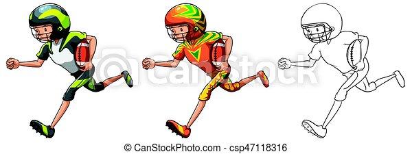 Fussball Zeichen Amerikanische Zeichnen Spieler