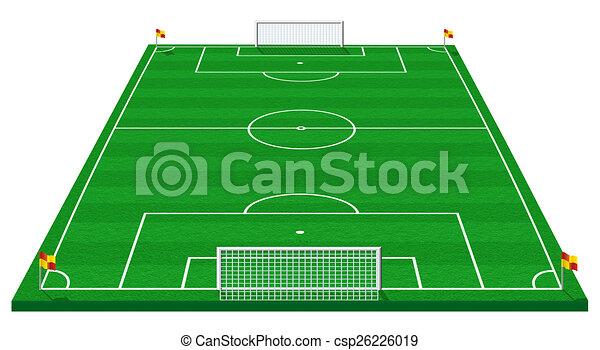 Fussballspiel Hochauflosende Abbildung Eines Fussballfeldes