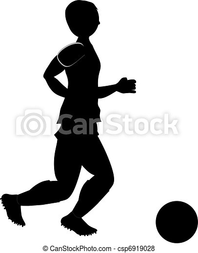 Fussballspieler Silhouette Spieler Fussball Silhouette