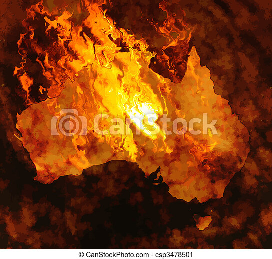 Australia está ardiendo - csp3478501