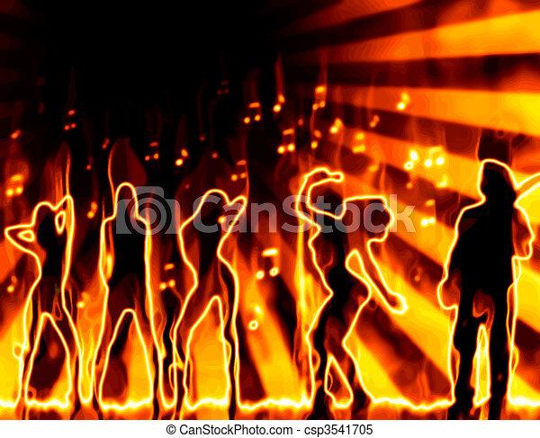 Banda en llamas - csp3541705