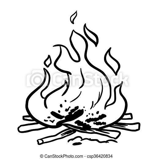 fuego blanco negro caricatura vectores buscar im genes de galer a multimedia ilustraciones. Black Bedroom Furniture Sets. Home Design Ideas