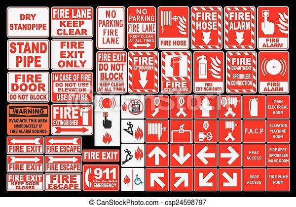 El fuego de emergencia canta - csp24598797