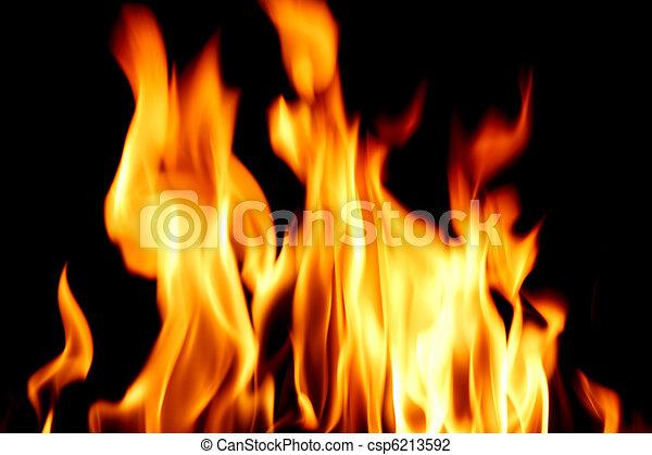 La llama de fuego se cierra - csp6213592