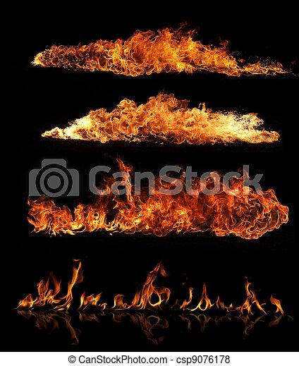 Una colección de fuego - csp9076178