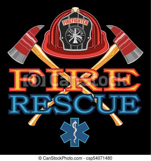 Diseño de rescate de incendios - csp54071480