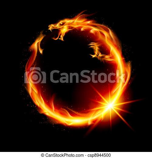 fuego, dragón - csp8944500