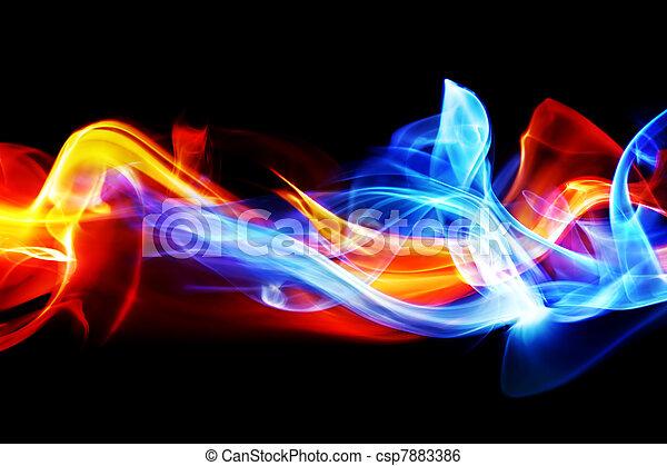 Fuego y hielo - csp7883386