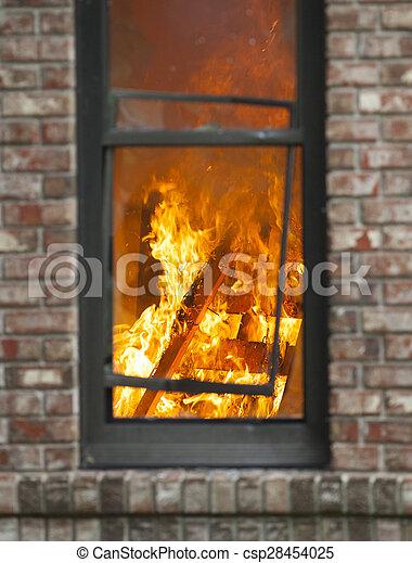 Fuego en casa - csp28454025