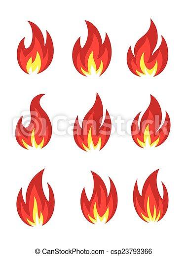 icono de fuego - csp23793366