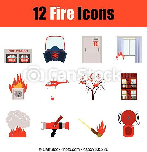 icono de fuego - csp59835226