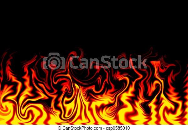 Ilustración de fuego - csp0585010