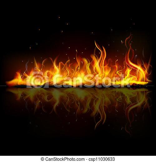 Quemando fuego - csp11030633