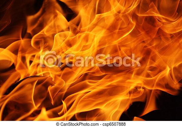 fuego, llamas, plano de fondo - csp6507888