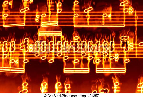 Música en llamas - csp1491357