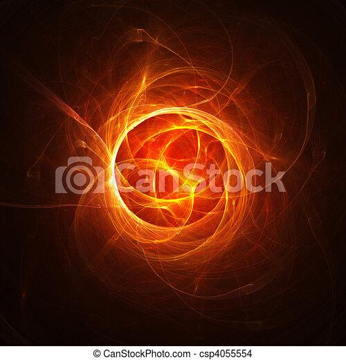 El núcleo de fuego caliente del caos - csp4055554