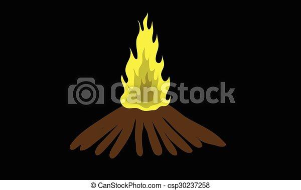 Fuego en la oscuridad - csp30237258