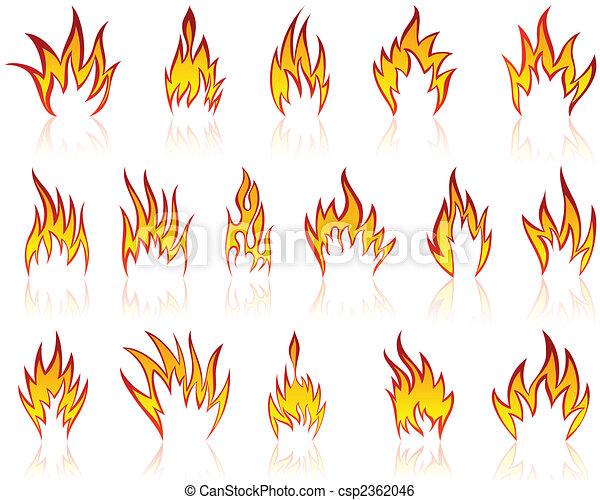 fuego, patrones, conjunto - csp2362046
