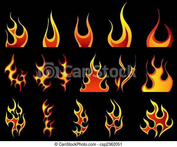 fuego, patrones, conjunto - csp2362051