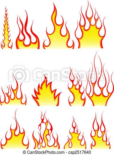 fuego, patrones, conjunto - csp2517640