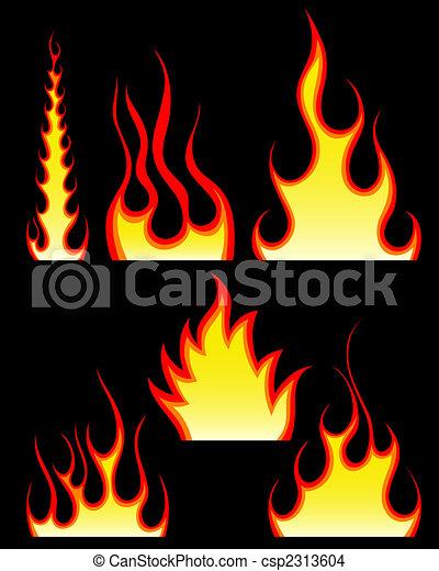 fuego, patrones, conjunto - csp2313604