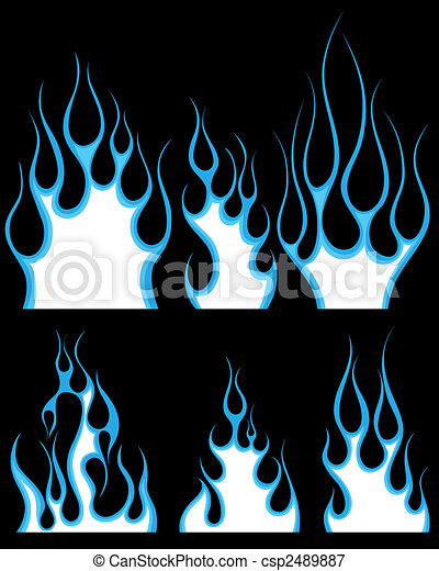 fuego, patrones, conjunto - csp2489887