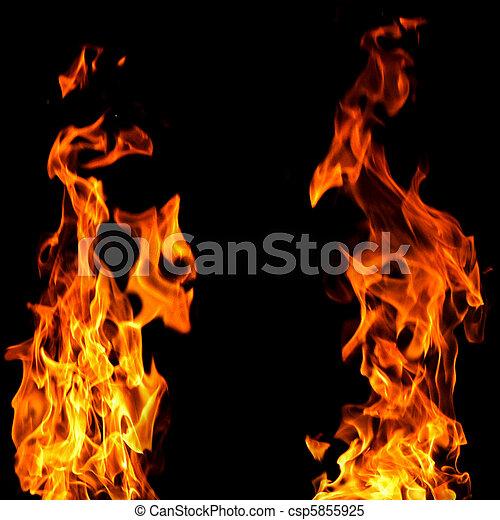 fuego, plano de fondo - csp5855925