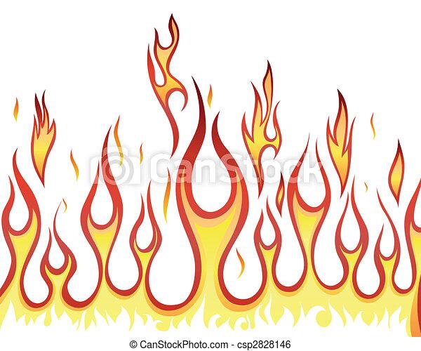Fuego de fondo - csp2828146