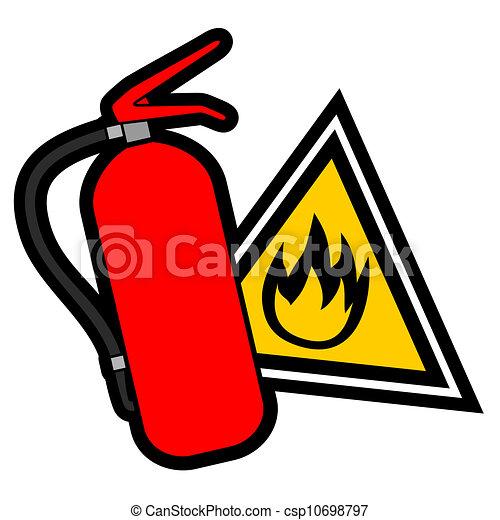 Señal de fuego de peligro - csp10698797