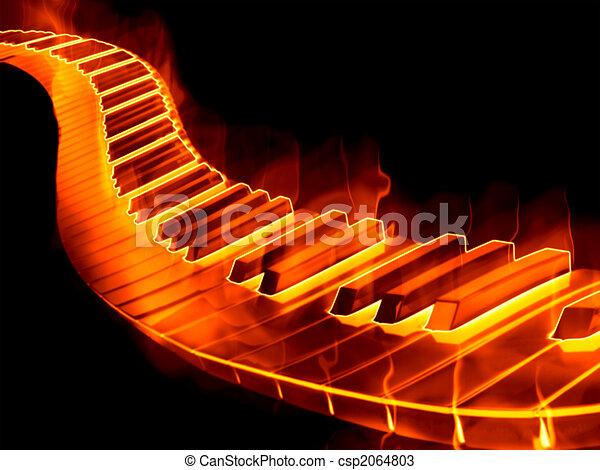 Teclado en llamas - csp2064803