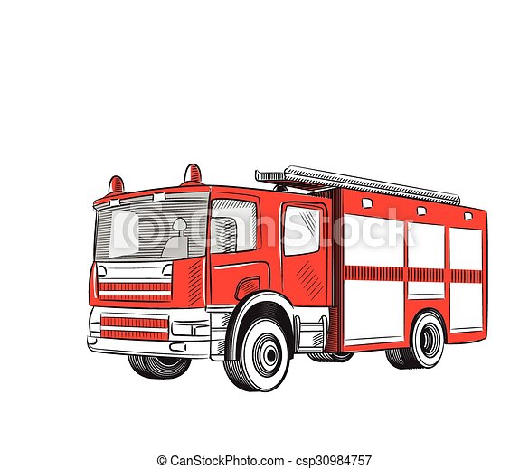 Camión de bomberos. - csp30984757