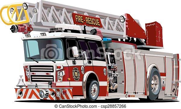 Un camión de bomberos de dibujos animados - csp28857266