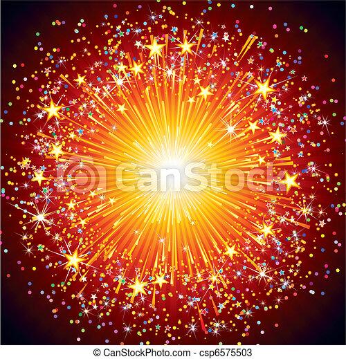 Fuegos artificiales coloridos - csp6575503