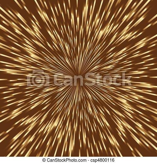 Fuegos artificiales de oro estilizados, la luz explota con el centro en medio de la imagen cuadrada. - csp4800116
