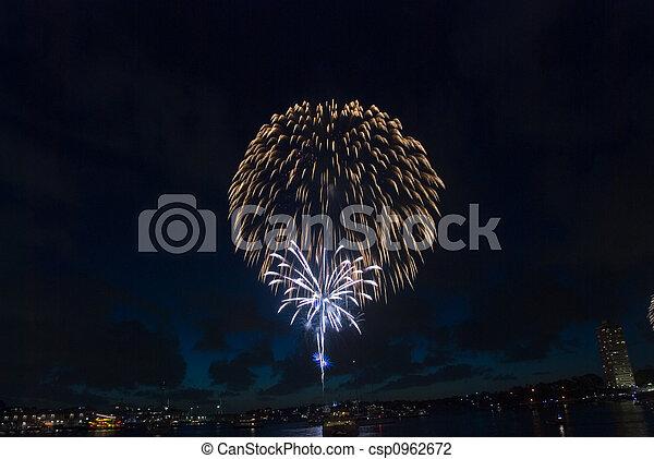 Sydney tiene fuegos artificiales - csp0962672