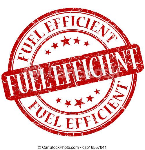 Fuel efficient grunge red round stamp - csp16557841