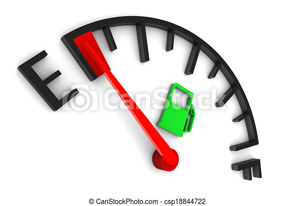 Fuel Gauge Empty - csp18844722