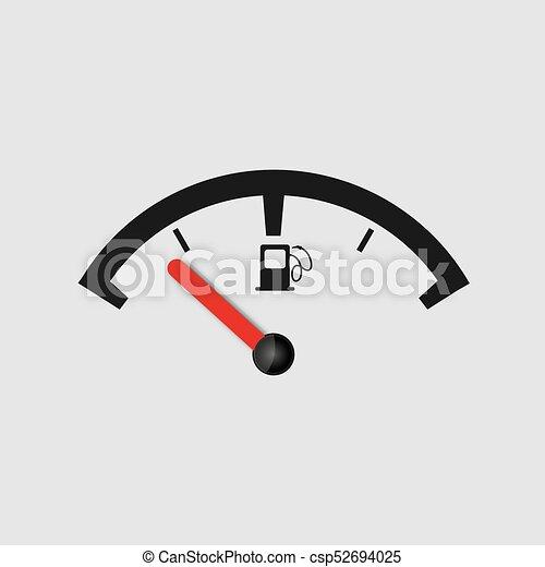 fuel gauge vector icon