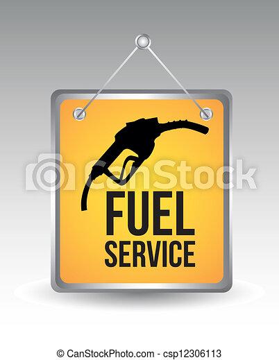 fuel icon - csp12306113