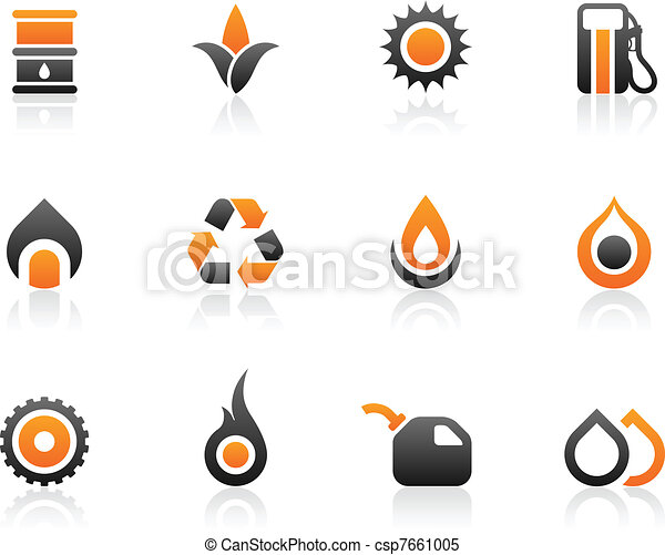 Fuel icons and graphics - csp7661005