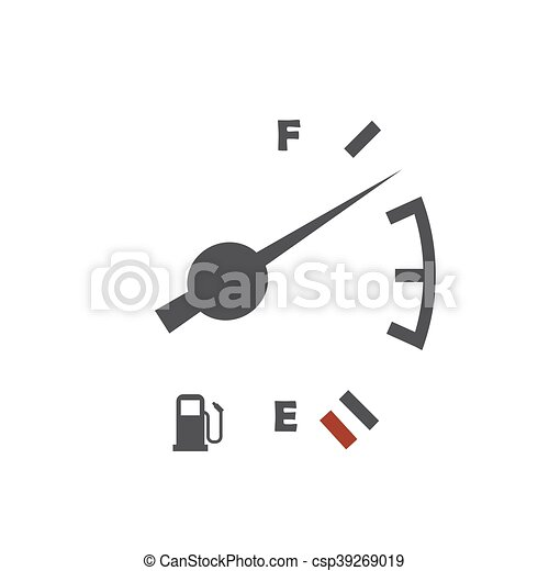 Fuel level sensor illustration on the white background.... vector ...